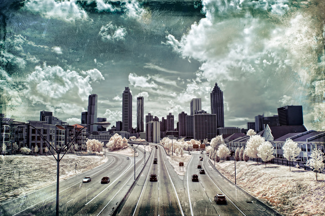 Infrared Atlanta Skyline.